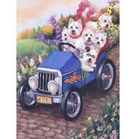 Westie Note Cards Hot Rod