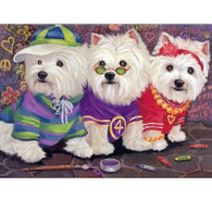 Westie Note Cards Sporty Westies