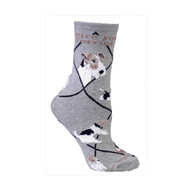 Wire Fox Terrier Socks Grey