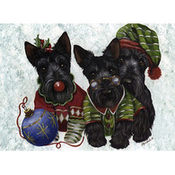 Scottie Elves Greeting Cards