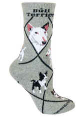 Bull Terrier Socks Grey