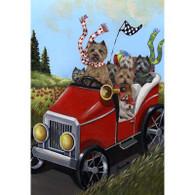 Cairn Terrier Cairnmobile Garden Flag