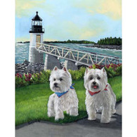 Westie Schooner and Annie Garden Flag