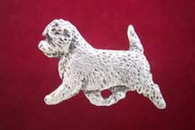 Cairn Terrier Pewter Pin - Trotting