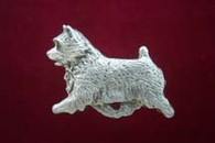 Norwich Terrier Pewter Pin - Trotting