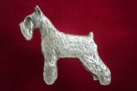Miniature Schnauzer Pewter Pin