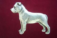 Staffordshire Bull Terrier Pewter Pin