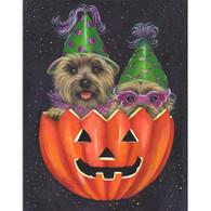 Cairn Terrier Halloweenie Garden Flag