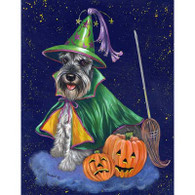 Miniature Schnauzer Good Witch Flag