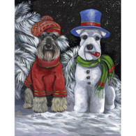 Miniature Schnauzer Winter Flag