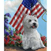 Westie Summer Flag