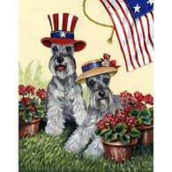 Miniature Schnauzer Summer Flag