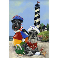 Miniature Schnauzer Beach Buddies Garden Flag