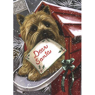 Cairn Terrier Christmas Flag