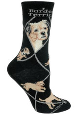 Border Terrier Socks Black