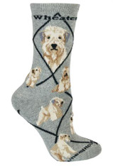 Soft Coated Wheaten Terrier Socks Grey