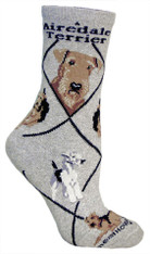 Airedale Socks Grey