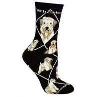 Soft Coated Wheaten Terrier Socks Black