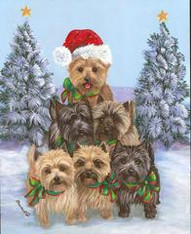 Cairn Terrier Tree Flag