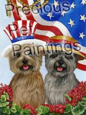 Cairn Terrier USA Garden Flag