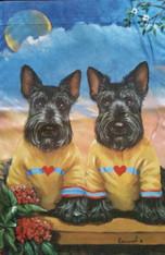 Scottie Scottish Terrier Soul Mates Garden Flag