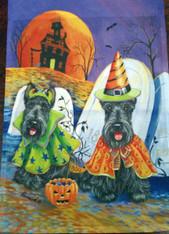 Scottie Scottish Terrier Halloween Garden Flag
