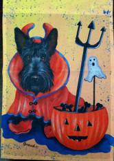 Scottie Scottish Terrier Boo Halloween Garden Flag