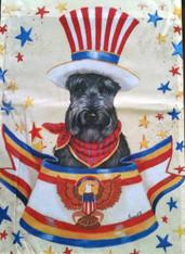 Scottie Scottish Terrier USA Flag