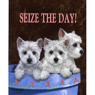 Westie Seize The Day Flag