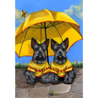 "Scottish Terriers Sunshine Twins 6"" Ceramic Tile"