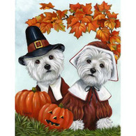 Westie Thanksgiving Flag