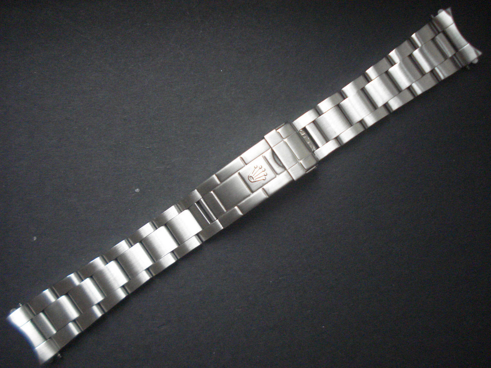 20mm Solid Stainless Steel All Brushed Vintage 93150 Submariner Style  Oyster Watch Band Bracelet Strap Marked Rolex Crown Logo For ROLEX 14060 Or