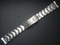 20mm Solid Stainless Steel All Brushed Vintage 93150 Submariner Style Oyster Watch Band Bracelet Strap Marked Rolex Crown Logo For ROLEX 14060 Or 16610 Or 16800