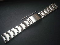 Signed Solid Stainless Steel All Brushed 20mm Oyster Quality Watch Band Bracelet Strap With Straight Ends For Mens Vintage 36mm ROLEX EXPLORER Watch Case