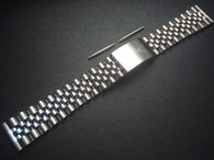Signed Stainless Steel 19mm Jubilee Quality Watch Band Bracelet Strap With Straight Ends For Mens Vintage 34mm ROLEX DateJust Watch Case