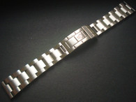 Signed Solid Stainless Steel All Brushed 20mm Oyster Quality Watch Band Bracelet Strap With Flip-lock Clasp And Straight Ends For Mens ROLEX Submariner Watch Case