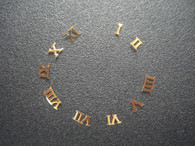One Set Of Steel Golden Roman numeral Hour Markers For Mens DateJust Watch Dial