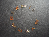 One Set Of Steel Golden Roman numeral Hour Markers Included 12 For Mens DateJust Watch Dial