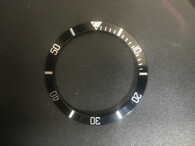 Vintage Style Black Aluminum Bezel Insert With Silver Numbers For Rolex 40mm Submariner Watch