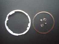 One Set Of Plastic And Steel Dial Movement Spacer Ring With Two Screws And Two Tabs For Mounting MIYOTA 8215 Or DG 2813 Movement Inside The Watch Case