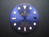 29mm Glossy Blue Submariner Diall Marked Rolex Symbol For Mens Golden Or 2-tone Watch With Date Window Fit ETA 2836 Or 2824 Or MIYOTA 8215 Automatic Movement