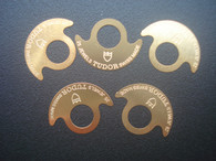 5 Pcs Golden Rotor Stickers Marked Tudor Logo For Automatic Movement