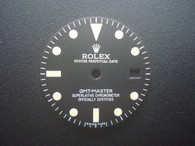 Vintage Style Of Brushed GMT Master Dial With Yellow Luminova Marked Rolex Symbol for MIYOTA 8215 movement 29mm