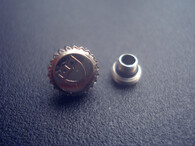 6mm Steel Screw Crown Marked Tudor Logo For Day-Date Watch Fit ETA 2836 Or 2824 Or 2813 Or 8215 Automatic Moverment