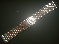 Signed Solid Stainless Steel 24mm Vintage Style Quality Watch Band Bracelet Strap With Straight Ends for OLd BREITLING Watch Case