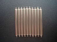 10 Pcs 2.0mm Steel 20mm Spring Bar Pins For Watch Case With Drilled Through Holes On the 20mm Lug