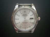 New Style Of Steel Rolex 41mm DateJust Watch Set  With Fluted Bezel And Silver Dial Has Luminous Sticks Fit ETA 2824 Movement