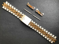 Signed 19mm 2-tone Quality Jubilee Watch Bracelet Band Strap For Vintage 34mm Tudor Prince Date Watch Case