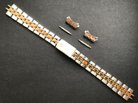Signed 13mm 2-tone Prince Style Quality Watch Band Bracelet Strap For Ladies 26mm Tudor Oyster Date Watch Case