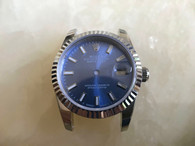 Steel Ladies Rolex 31mm DateJust Watch Set  With fluted Bezel And Blue Dial And Jubilee Watch Band Fit ETA 2671 Movement